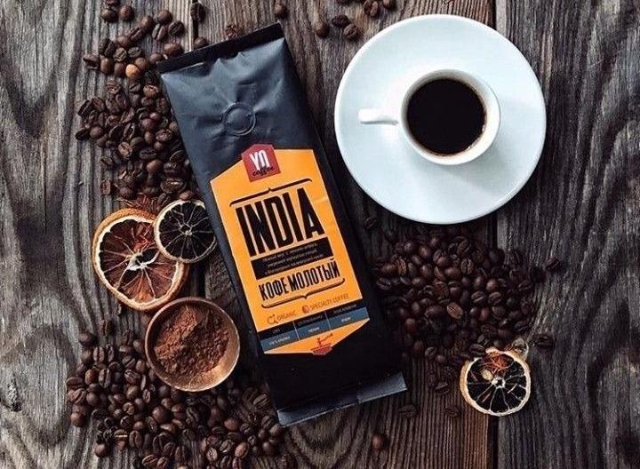 Упаковка индийского молотого кофе