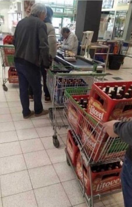 Пиво в тележках
