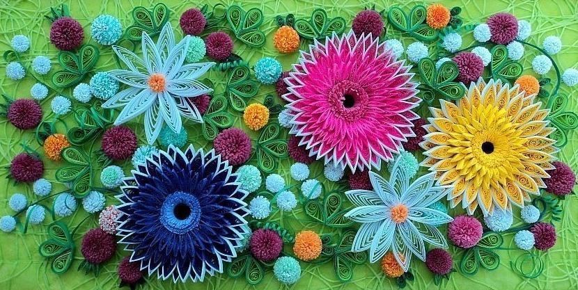 Цветы из квиллинга