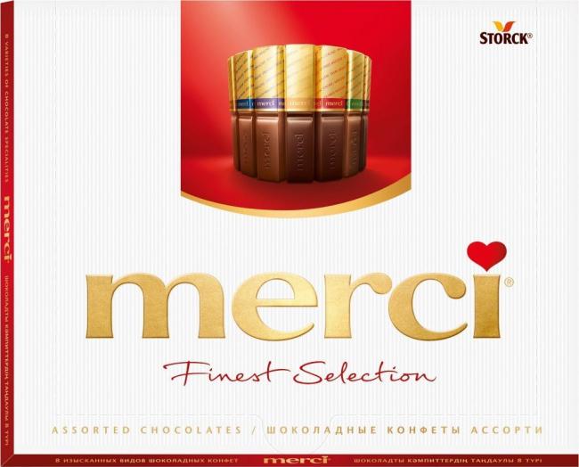 Конфеты торговой марки Merci