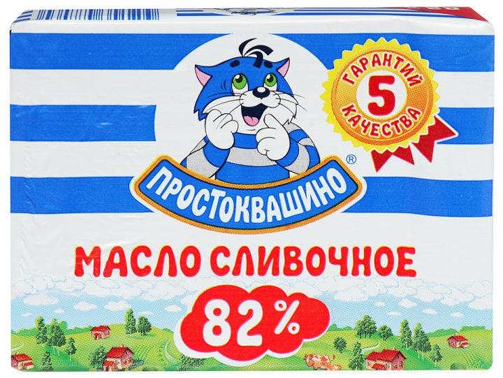 """Сливочное масло """"Простоквашино"""" """"Традиционное"""" 82%"""