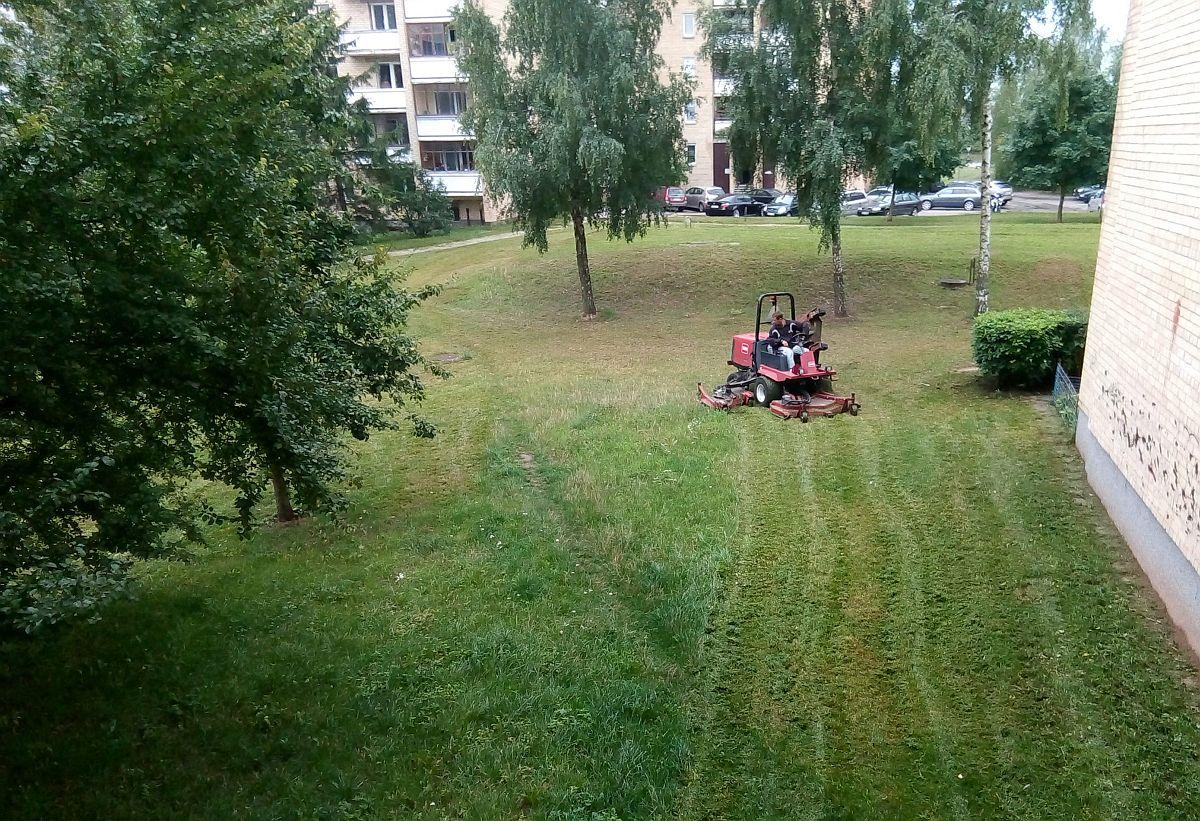 Стрижка газонов в Вильнюсе