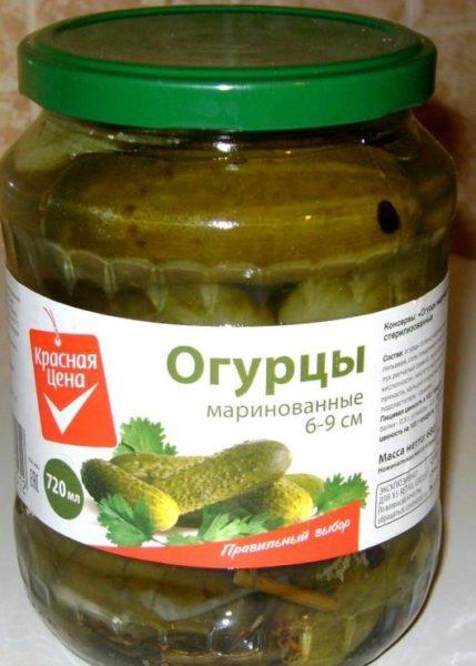 "Огурцы маринованные ""Красная цена"""