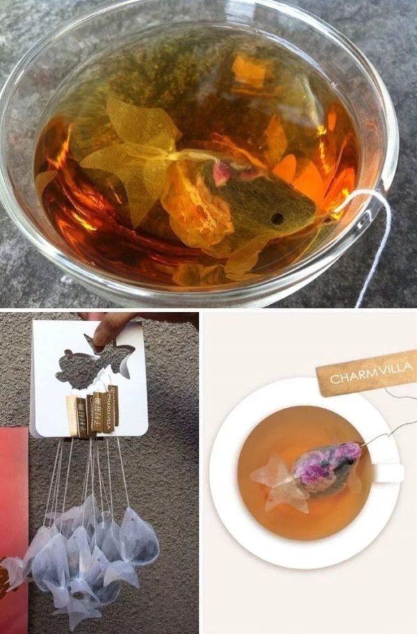 Чайные пакетики в виде рыбок