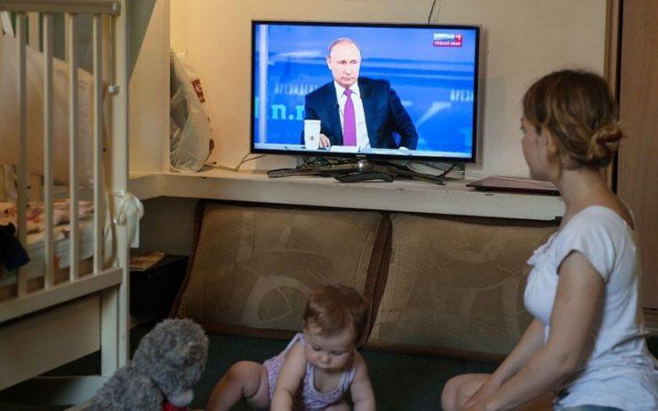 Выступление В. Путина по телевизору