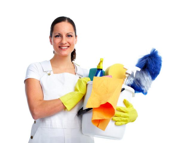 Счастливая уборщица