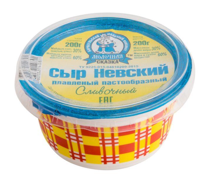 Сыр «Молочная сказка» Невский плавленый пастообразный