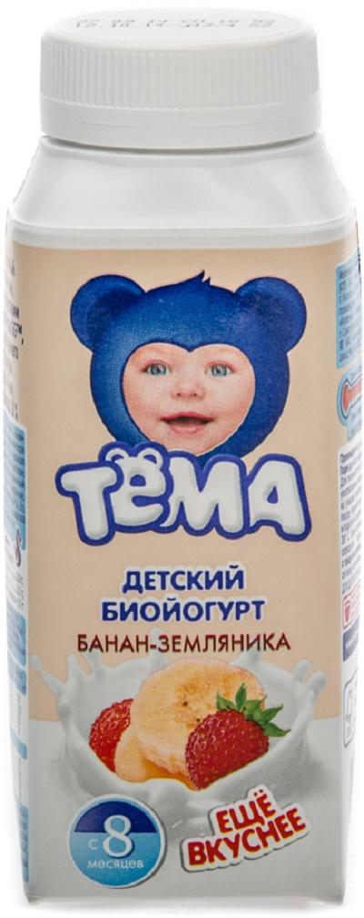 """Тема"" детский биойогурт банан-земляника"