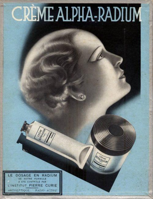 Реклама крема с радием