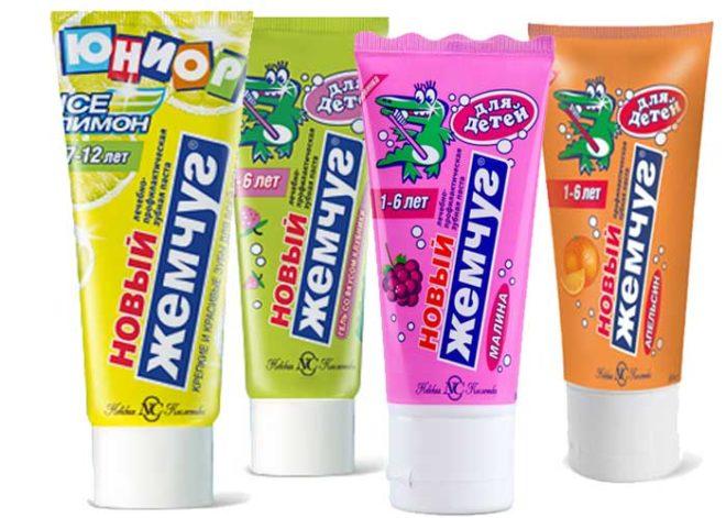 """Детская зубная паста """"Новый жемчуг"""""""