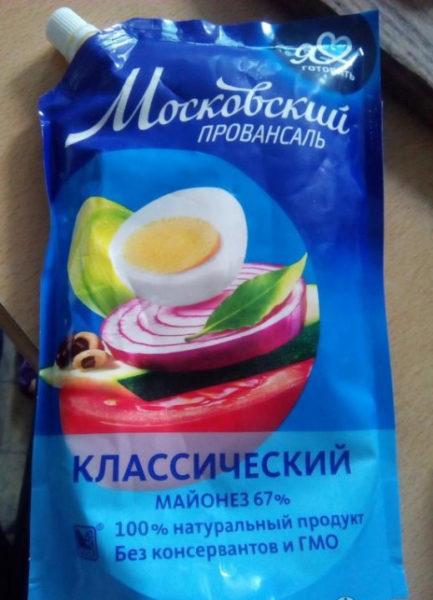 "Майонез ""Московский провансаль"""