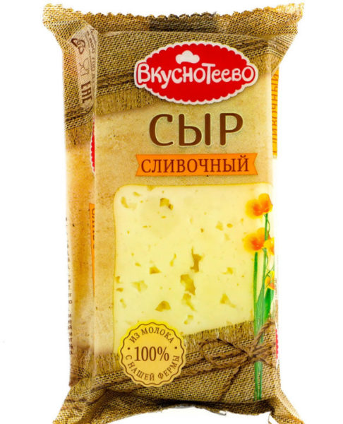 Сыр Сливочній«Вкуснотеево»