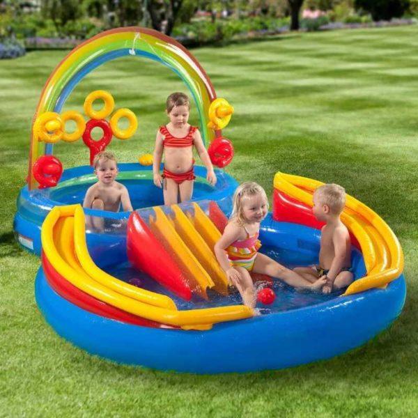 Надувной комплекс Intex Rainbow Ring Play Center 57453