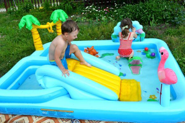 Детский надувной бассейн Intex Приключения в джунглях 57161