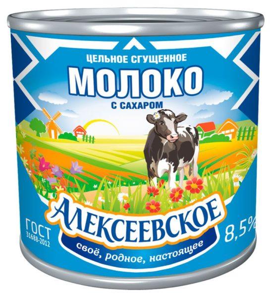 """Сгущенное молоко """"Алексеевское"""""""