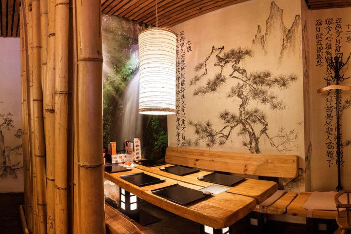 Интерьер ресторана Тануки