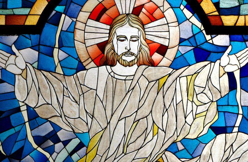 Витраж с изображением Христа Спасителя