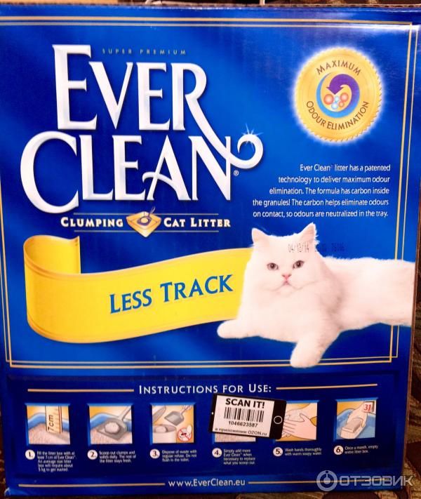 Кошачий наполнитель Ever Clean Less Track/Less Trail