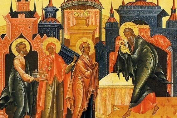 Религиозная живопись на тему Сретения