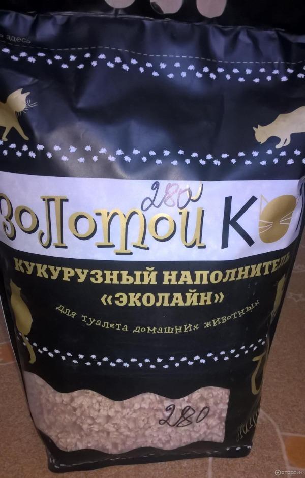 Наполнитель Золотой кот кукурузный