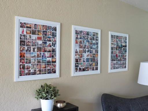 Фотоколлажи на стене