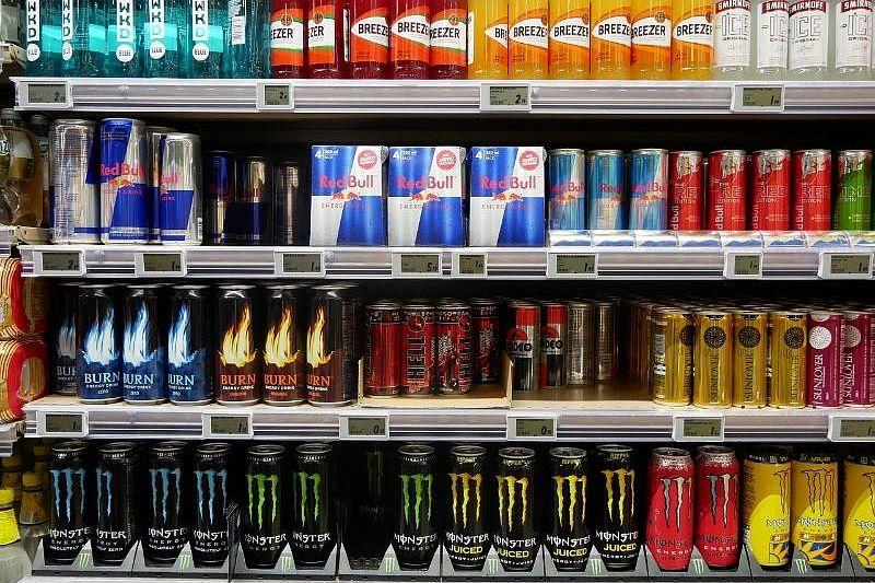 Энергетики на магазинных полках