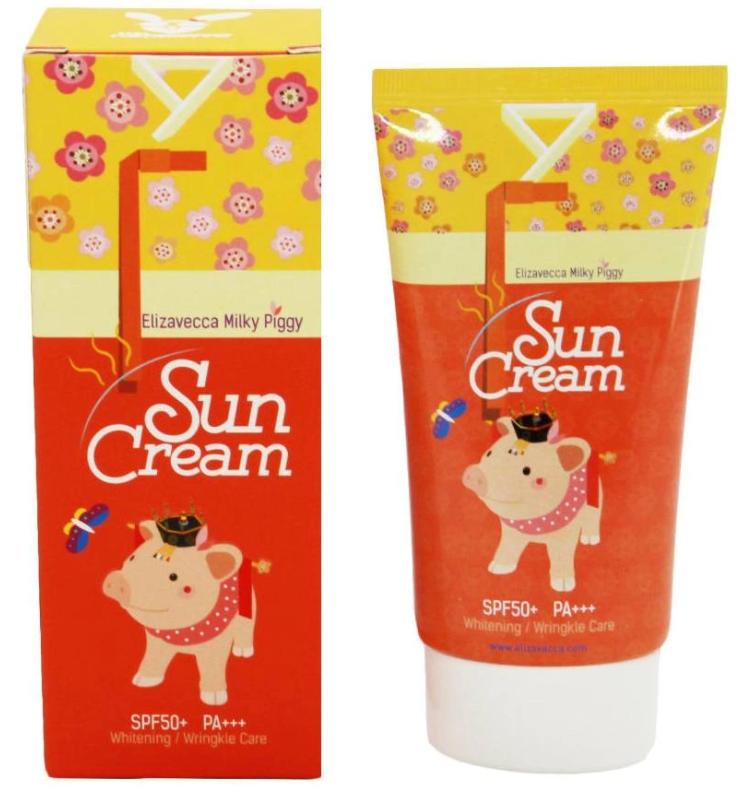 Солнцезащитный крем в тубе и в упаковке